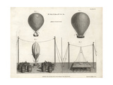 Pneumatics of Aerostation with Hot-Air Balloons Giclee Print by J. Farey