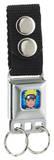 Naruto - Face Blue Seatbelt Buckle Keychain Keychain