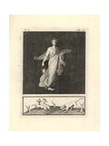 Cernophores Dancer with Basket, Plate, Crown of Wheat, White Robe Giclee Print by Tommaso Piroli