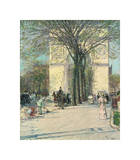 Washington Arch, Spring, 1890 Giclee Print by Childe Hassam