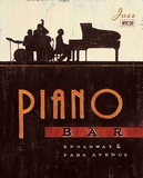 Vintage Piano Bar Print by Angela Staehling