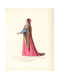 Noblewoman of Italy, 15th Century Giclee Print by Paul Mercuri
