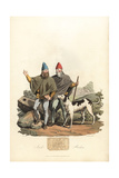 Irish Brehons and Filidhs or Judges, Roman Era Giclee Print by Charles Hamilton Smith