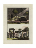 Underground Vault Near Pompeii and Courtyard in a Roman House Giclee Print by Robert von Spalart