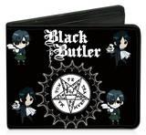 Black Butler - Pentacle Chibi Ciel & Chibi Sebastian Bi-fold Wallet Wallet