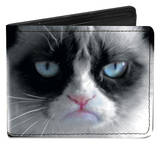 Grumpy Cat - Face Close-Up Bi-fold Wallet Wallet