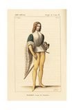 Esauret, Count of Toulouse, Son of Torson (8th Century) Giclee Print by Leopold Massard