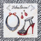 Zebra Devine Posters by Angela Staehling