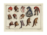 Classical Hats and Bonnets Giclee Print by Robert von Spalart