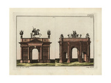 Arches of Triumph of Domitian and of Septimius Severus Giclee Print by Robert von Spalart