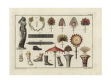 Statue of Venus, Roman Bracelets, Fans, Shoes, Parasol, and Mirror Giclee Print by Robert von Spalart