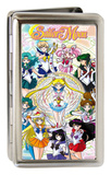 Sailor Moon - Characters Floral Swirl Large Business Card Holder Novelty