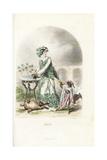 Hemlock Flower Fairy, Conium Maculatum Giclee Print by Jean Ignace Grandville