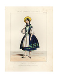 Girl in National Costume of Switzerland, 19th Century Giclee Print by Thomas Hailes Lacy
