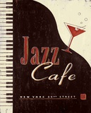 Vintage Jazz Cafe Art by Angela Staehling