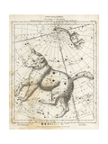 Astronomical Chart of the Constellations of Ursa Major and Ursa Giclee Print by L. Hebert
