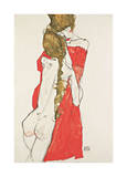 Mother and Daughter Giclee Print by Egon Schiele