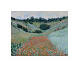 Poppy Field in a Hollow Near Giverny, 1885 Giclee Print by Claude Monet