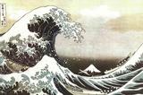 De grote golf van Kanagawa , ca.1829 Poster