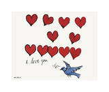 I Love You So, c. 1958 Giclée-tryk af Andy Warhol