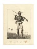 A Coromantyn Free Man or Ranger, Armed Giclee Print by John Gabriel Stedman