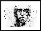 Lines Hold The Memories Framed Giclee Print by Agnes Cecile
