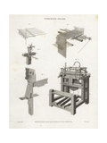 Stocking Frame, Knitting Machine, 18th Century Giclee Print by J. Farey