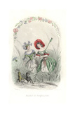 Cornflower and Poppy Flower Fairies Giclee Print by Jean Ignace Grandville
