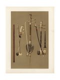 Chinese Fiddles and Thai Woodwind Instruments Giclee Print by Alfred James Hipkins