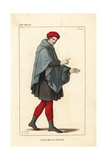 Costume of a Common Man, 12th Century Giclee Print by Leopold Massard