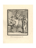 Orestes, Iphigenia, Pylades, King Thoas and Chorus Giclee Print by Tommaso Piroli
