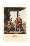 A Romanised Briton and a Feryllt Giclee Print by Charles Hamilton Smith
