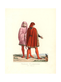 Costume of Noblemen of Florence, 15th Century Giclee Print by Paul Mercuri