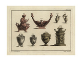 Roman Lamps, Altar, and Vases Giclee Print by Robert von Spalart
