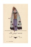 Woman in Kohl Eye Costume Giclee Print