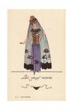 Woman in Kohl Eye Costume Giclee Print