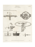 Thomas Mudge's Timekeeper, 18th Century Horology Giclee Print by J. Farey