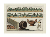 Greek Gardens, Roman Baths, Greek Vase, Cup and Tripod Giclee Print by Robert von Spalart