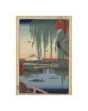 Ando Hiroshige - Yatsumi no Hashi (Yatsumi Bridge), 1856 Digitálně vytištěná reprodukce