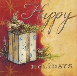 Happy Holidays Posters by Angela Staehling