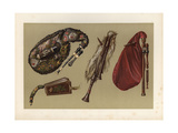 Cornemuse, Calabrian Bagpipes, Musette and Bellows Giclee Print by Alfred James Hipkins