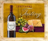 Private Tasting Wine & Cheese Posters by Angela Staehling