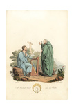 British Bard and an Ovate, Druidic Priests, Pre-Roman Era Giclee Print by Charles Hamilton Smith