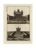 Temple of Vespasian and Temple of Jupiter Giclee Print by Robert von Spalart