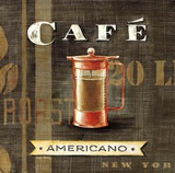 Cafe Americano French Press Poster by Angela Staehling