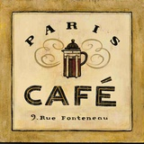 Parisienne Cafe Poster by Angela Staehling