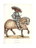 Knight in Suit of Decorated Plate Armor on Horseback Giclee Print by Jakob Heinrich Hefner-Alteneck