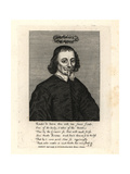 Richard Brome, Poet, 1635 Giclee Print by T. Cross