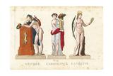 Orpheus, Abundantia and Veritas, Greek and Roman Gods Giclee Print by Leonard Defraine