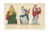 Melpomene, Terpsichore and Erato, Greek Muses Giclee Print by Leonard Defraine